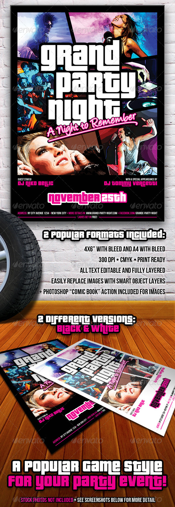GraphicRiver Grand Party Night Flyer 6066990