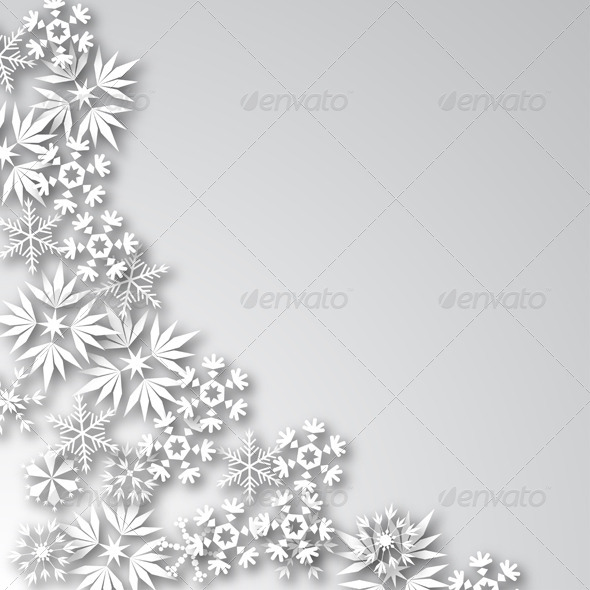 White Frost Background