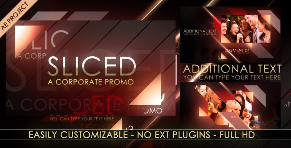 VideoHive After Effects Project - Sliced A Corporate Promo 633280
