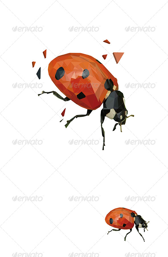 GraphicRiver Ladybug Vector Triangled 6067173