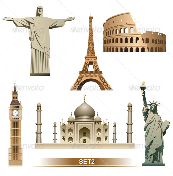 GraphicRiver World Landmark 6067227