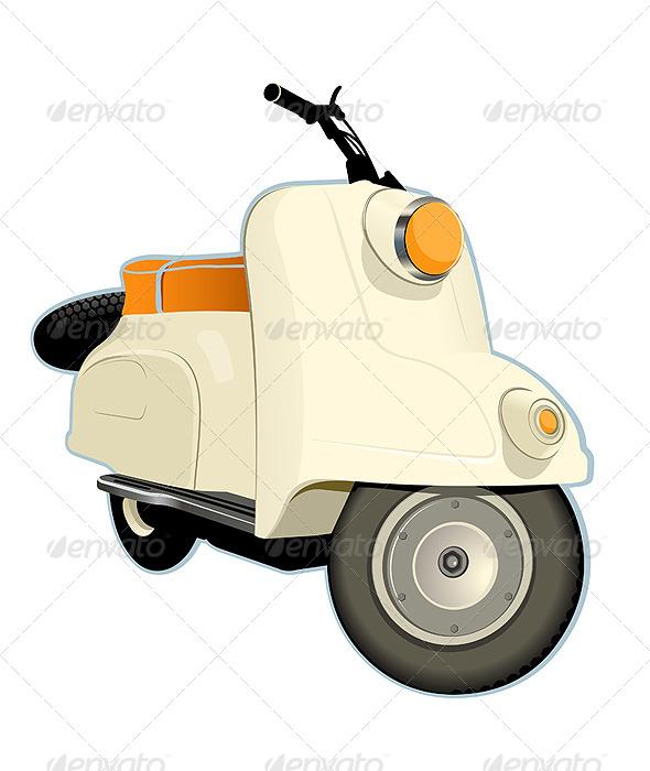 GraphicRiver Retro Scooter 6065793