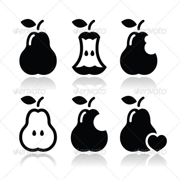 GraphicRiver Pear Vector Set 6067435