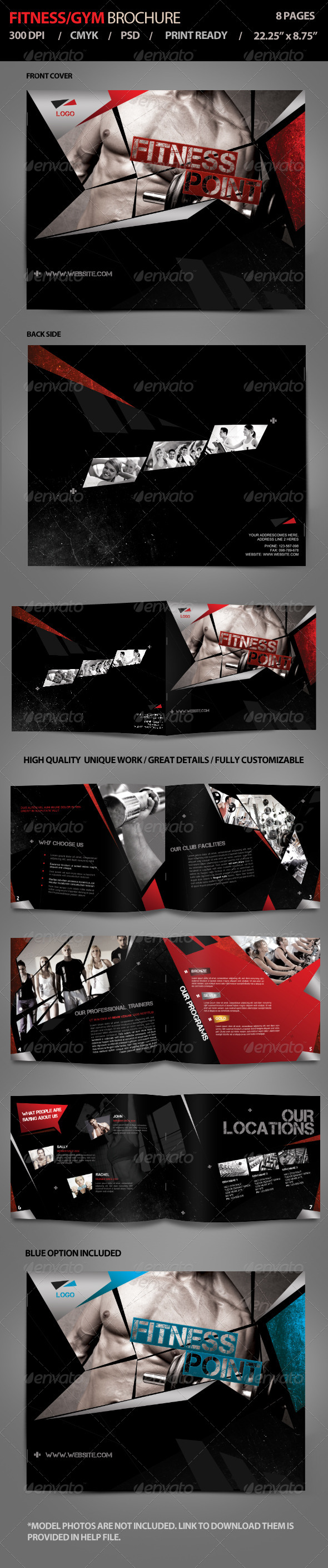 Fitness / Gym Brochure Vol1 - Brochures Print Templates