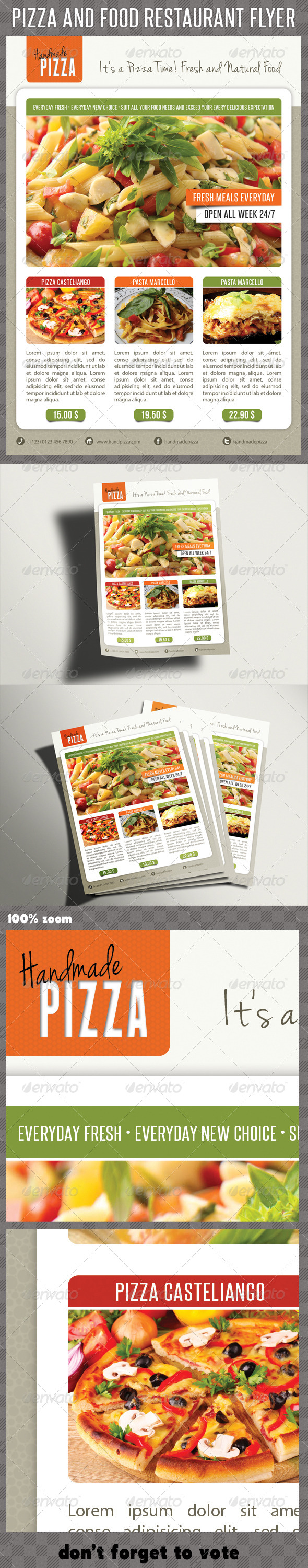 Food And Pizza Menu Flyer 05 - Restaurant Flyers