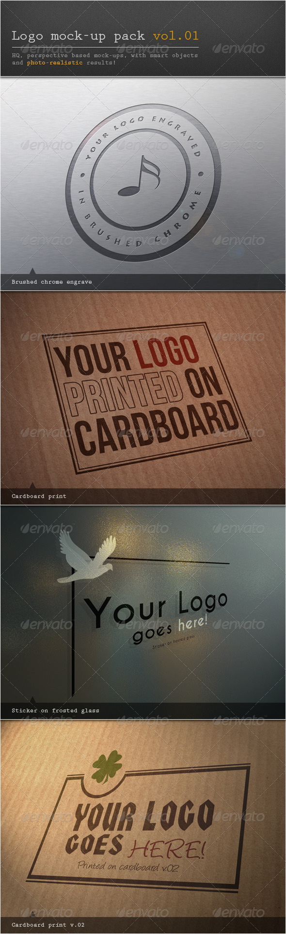Logo Mock-up Pack Vol.01