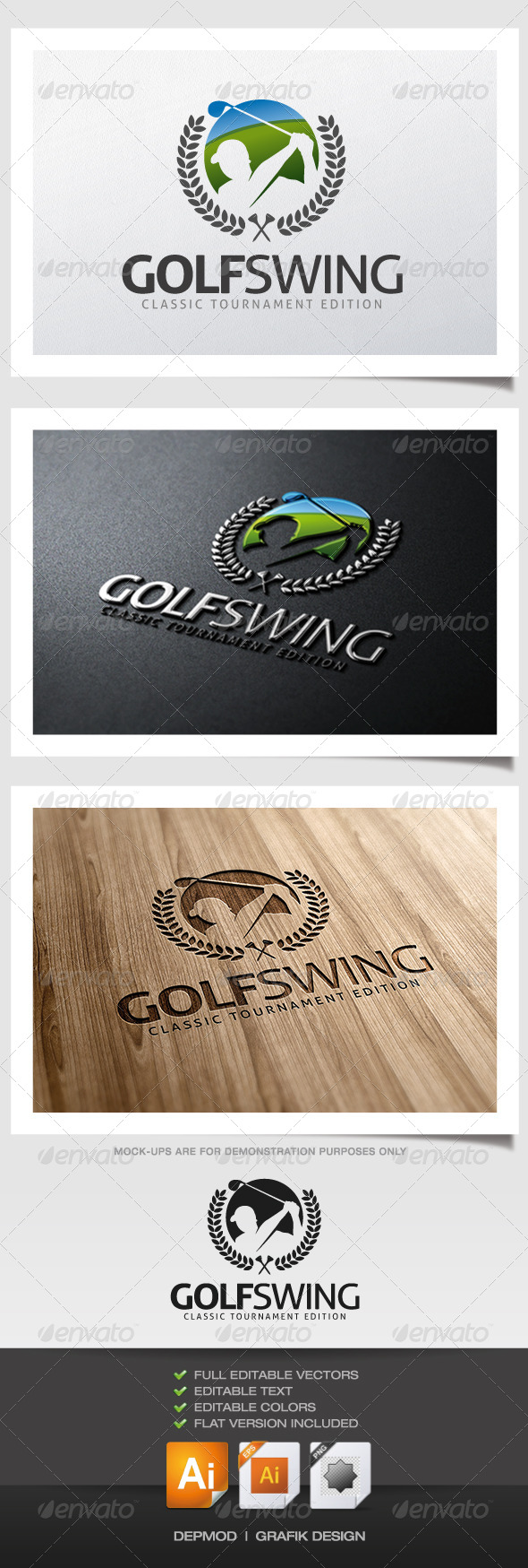 GraphicRiver Golf Swing Logo 6067946