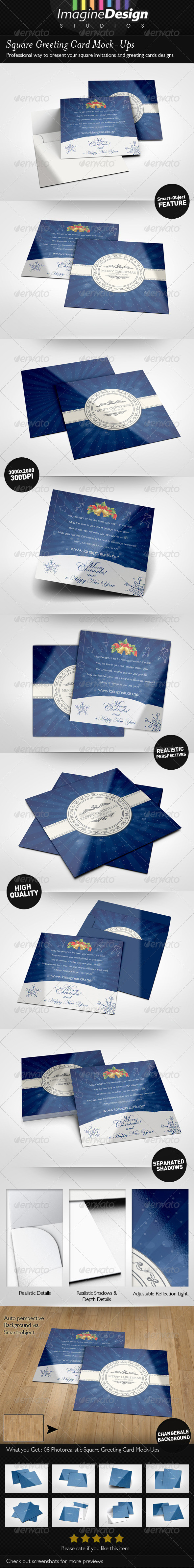 GraphicRiver Square Greeting Card Mockup 6067992