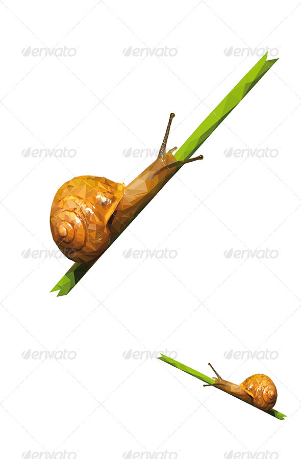 GraphicRiver Snail Vector Triangled 6068006