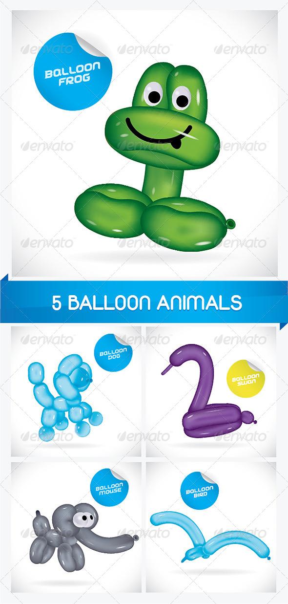 GraphicRiver 5 Balloon Animals 6068184