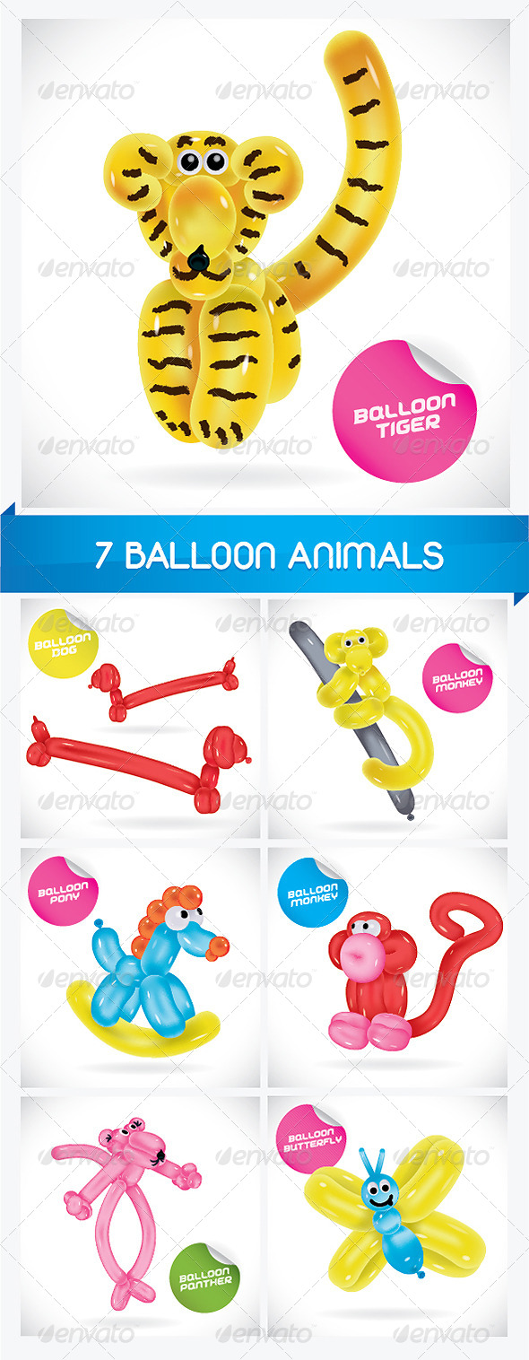 GraphicRiver 7 Balloon Animals 6068234