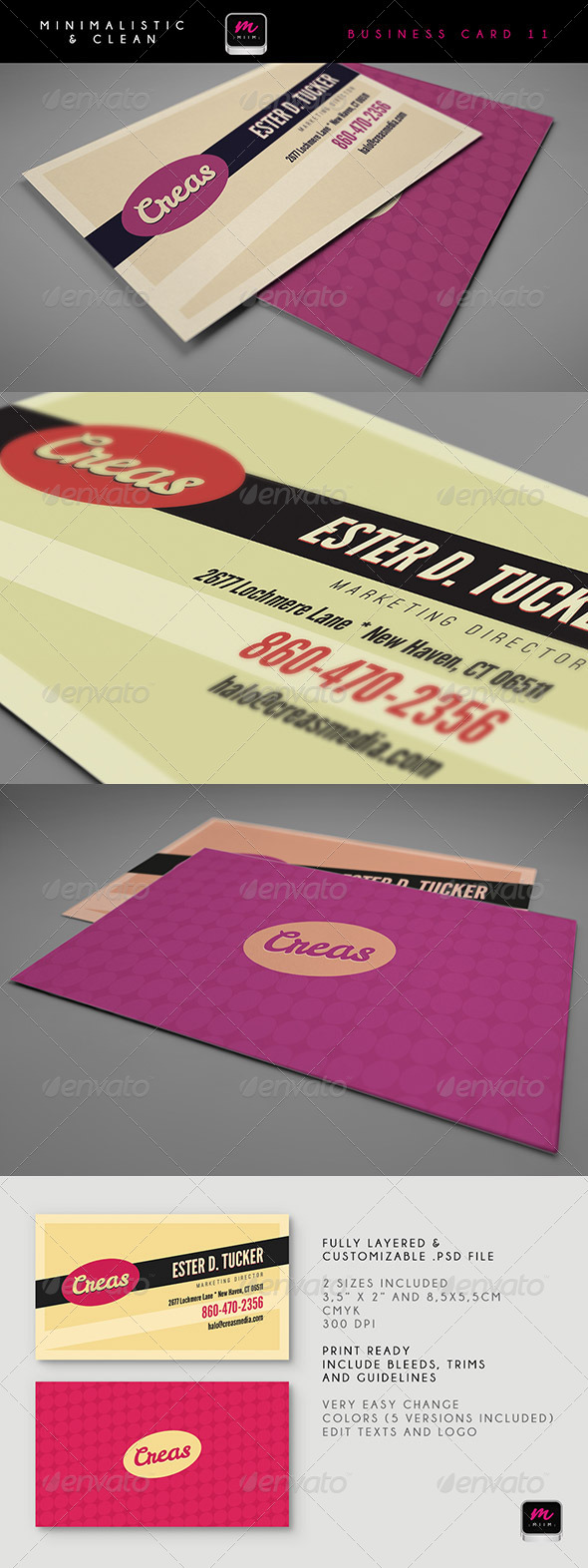 Clean Business Card Template 11