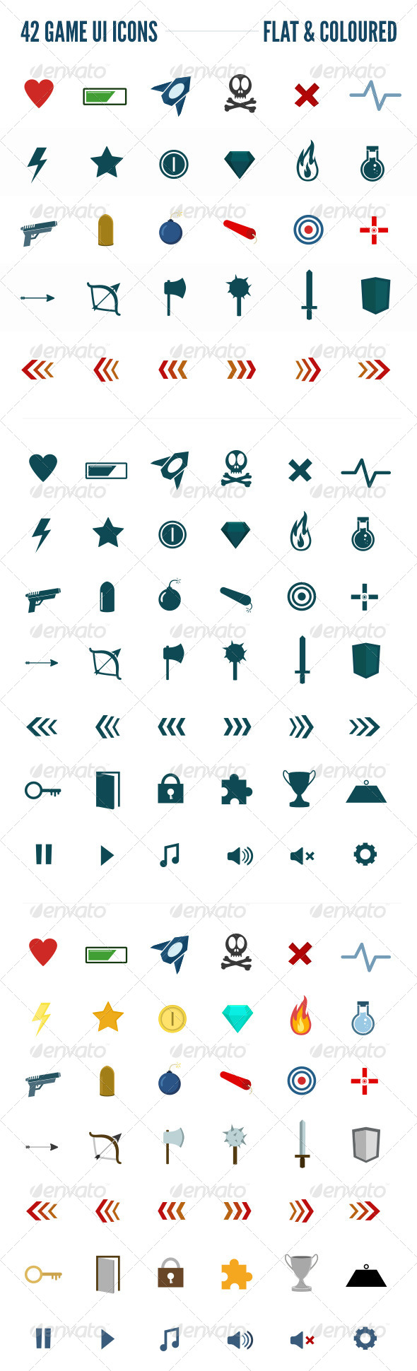 GraphicRiver Game UI Icons 6068387