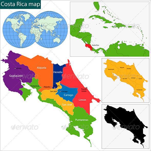 GraphicRiver Costa Rica Map 6068431