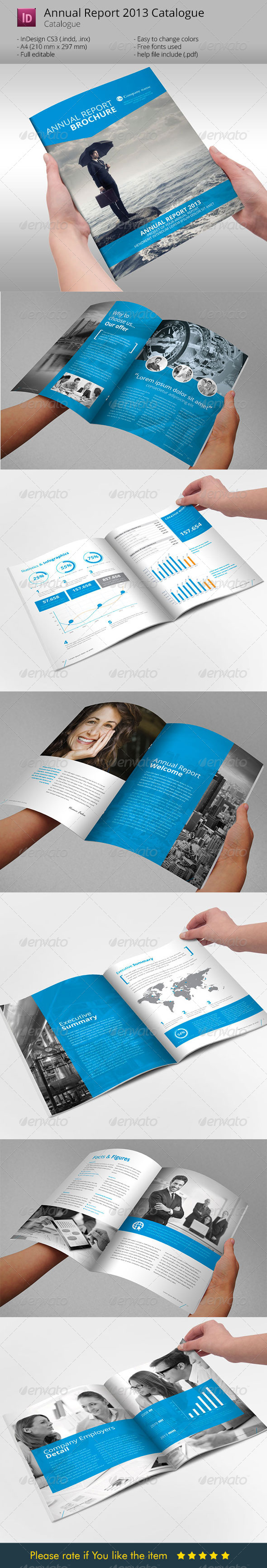 GraphicRiver Annual Report Brochure Indesign Template 6068590