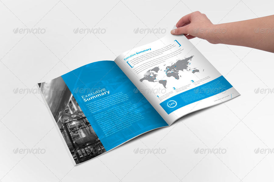 Annual report brochure indesign template by braxas for Brochure templates envato
