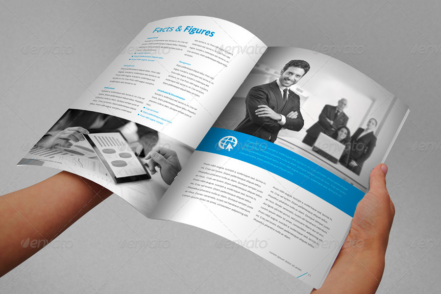Annual report brochure indesign template by braxas for Brochure template indesign free download