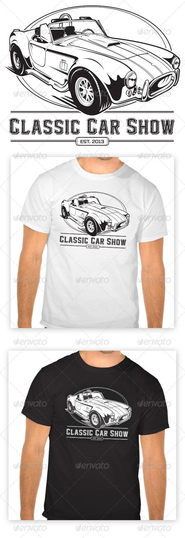 GraphicRiver Classic Car Club T-Shirt 6053013