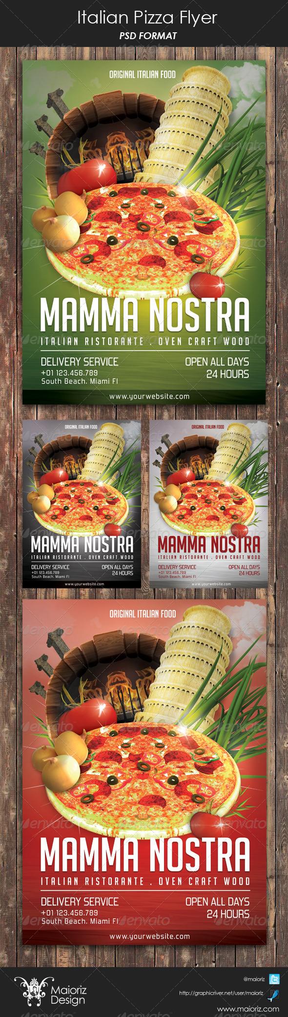 Italian Pizzeria Restaurant Flyer
