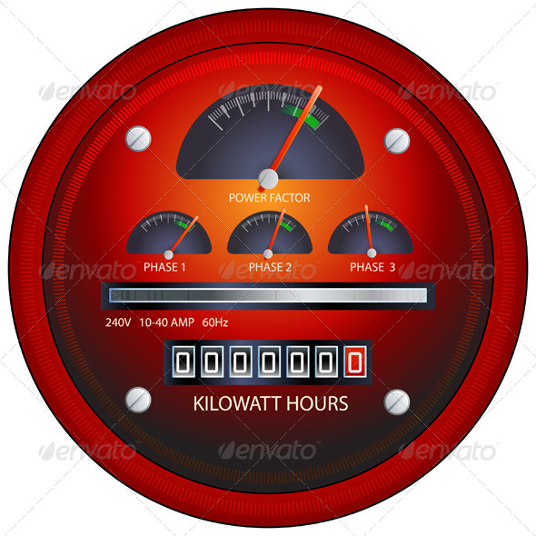 GraphicRiver Power Meter Illustration 6068636