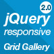 jQuery Responsive Grid Gallery