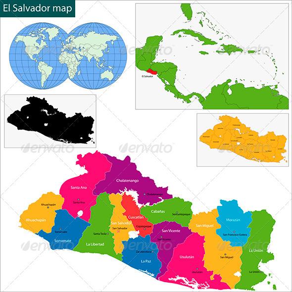 GraphicRiver El Salvador Map 6068659