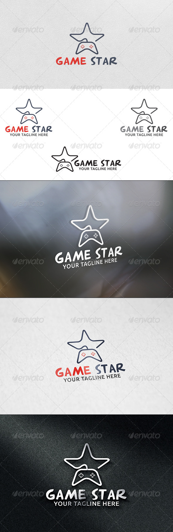 GraphicRiver Game Star Logo Template 6068713