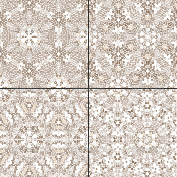 GraphicRiver Set of 4 Mosaic Beige Seamless Patterns 6068801