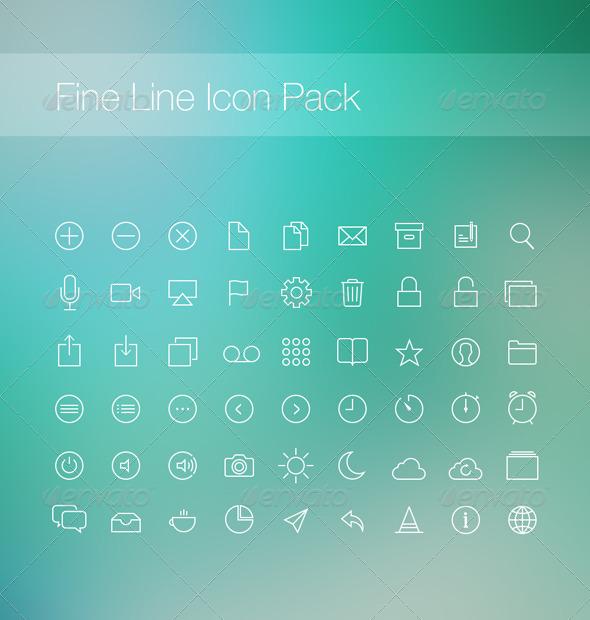 GraphicRiver Fine Line Icon Pack 6026662
