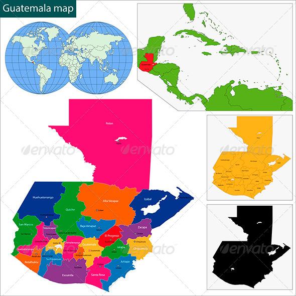 GraphicRiver Guatemala Map 6069031