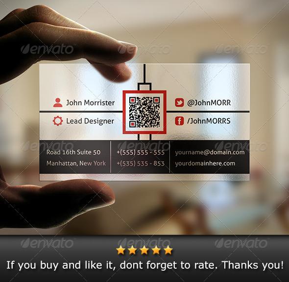 GraphicRiver Transparent Business Card 6069334