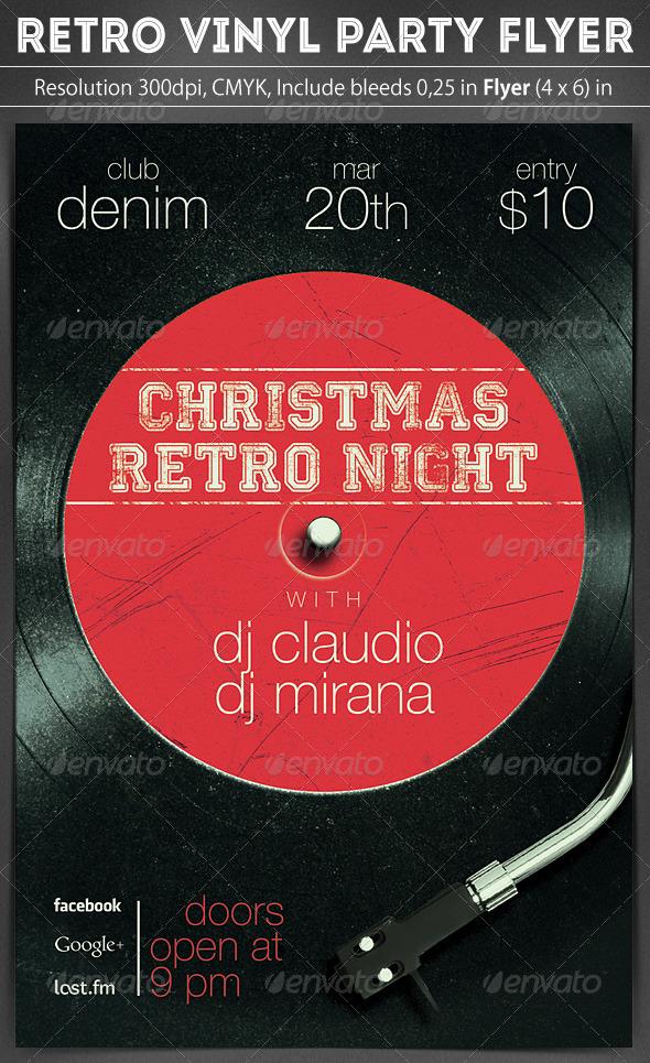 GraphicRiver Retro Vinyl Party Flyer 6069338