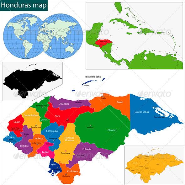 GraphicRiver Honduras Map 6069339