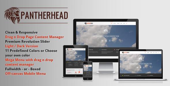 ThemeForest PantherHead Premium Business & Portfolio Theme 6069431