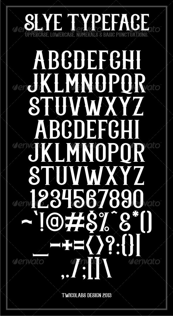 GraphicRiver Slye Typeface 6057134