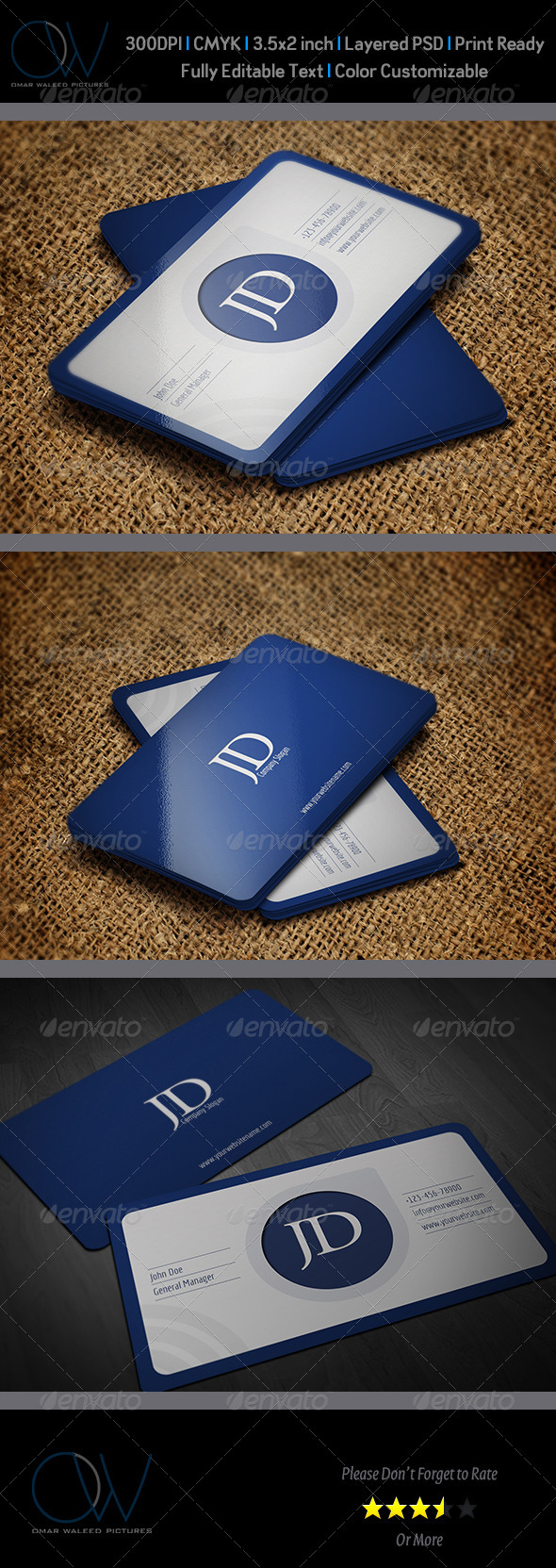 GraphicRiver Corporate Business Card Template Vol.37 6066755