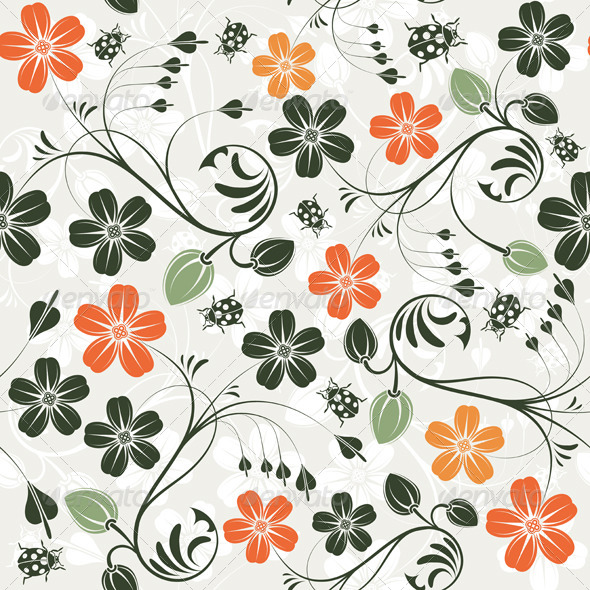 GraphicRiver Flower Seamless Pattern 1068741