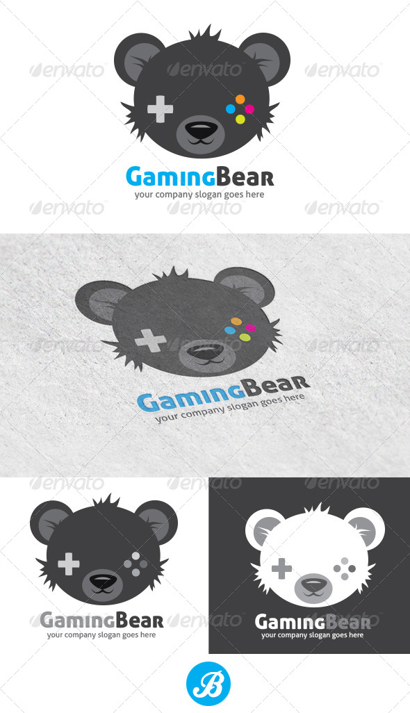 GraphicRiver Gaming Bear 6069936
