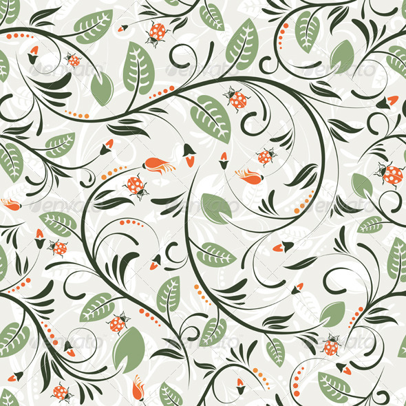 GraphicRiver Flower Seamless Pattern 1068319