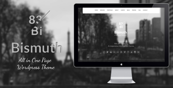 Bismuth : All in One Responsive WP Theme