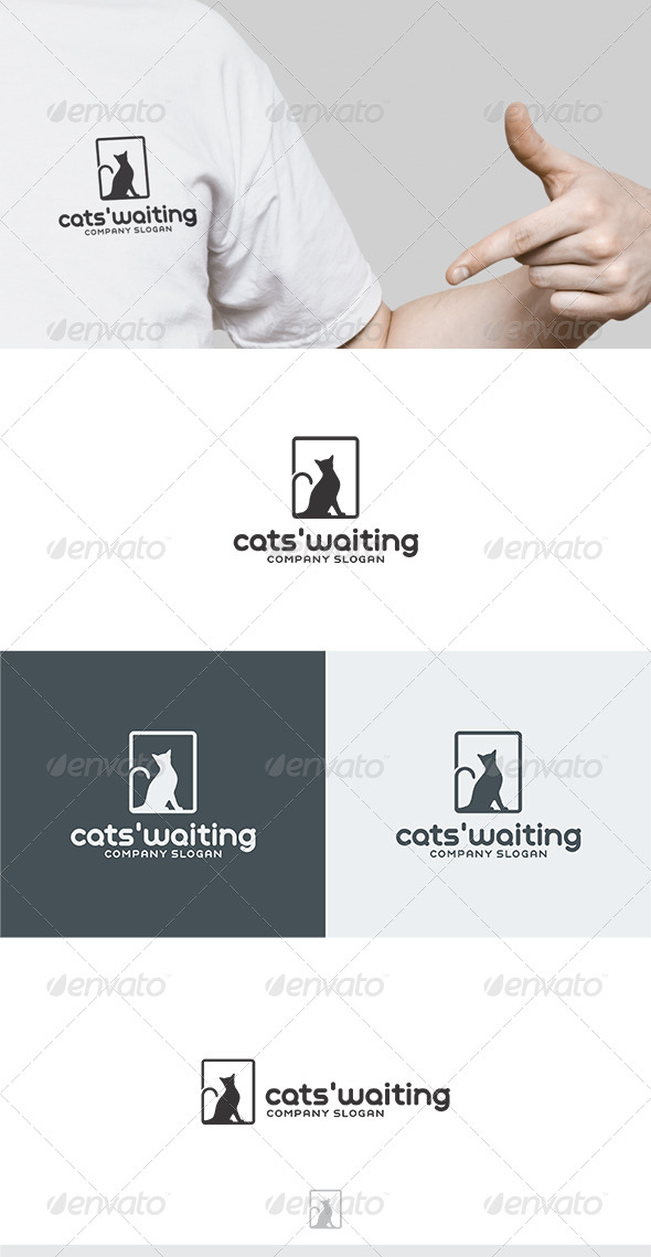 GraphicRiver Cats Waiting Logo 6070123