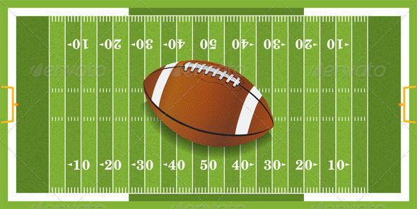 GraphicRiver Realistic Football on Textured Football Field 6070352
