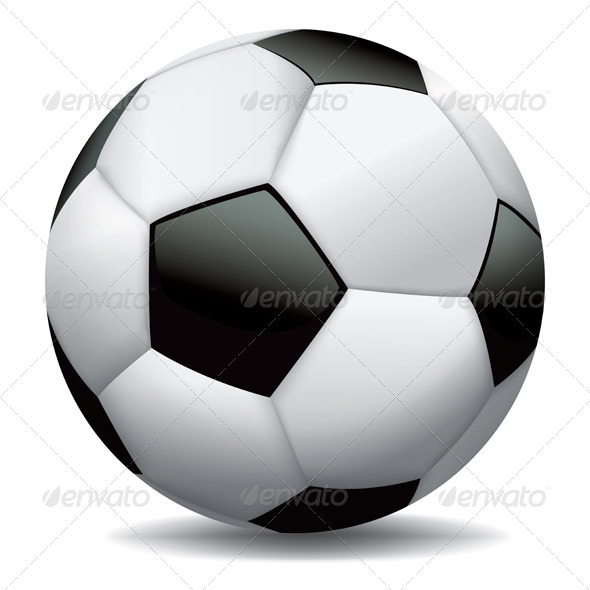 GraphicRiver Realistic Soccer Ball on White Background 6070365