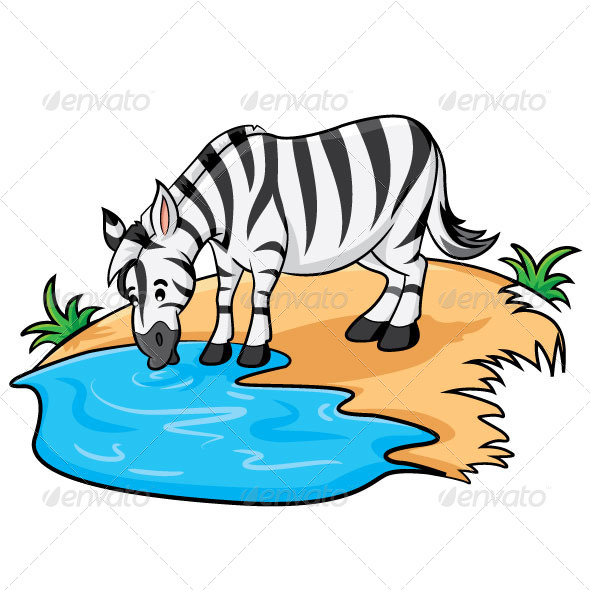 GraphicRiver Zebra Cartoon 6070393