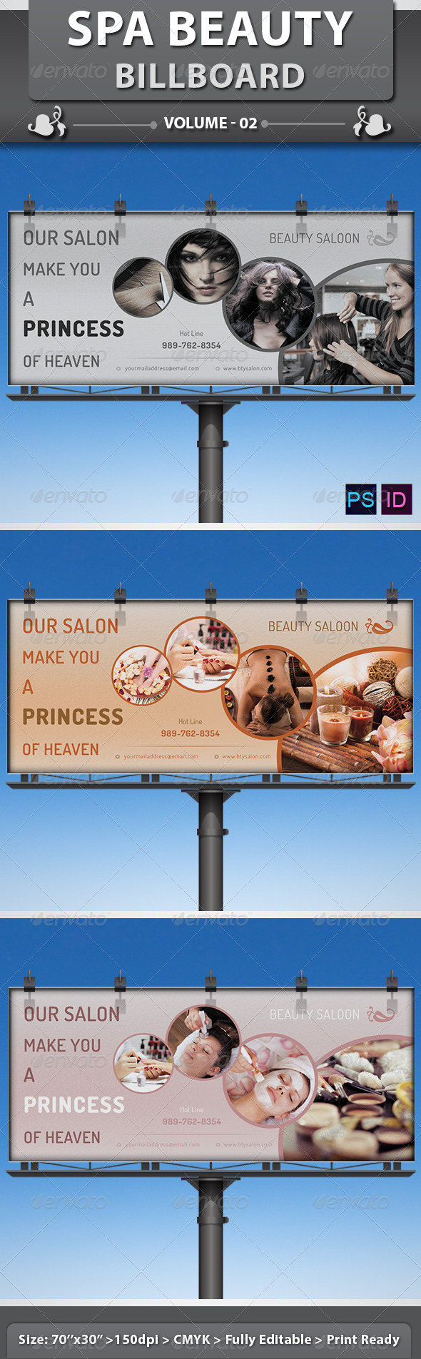 Spa & Beauty Saloon Billboard | Volume 4 - Signage Print Templates