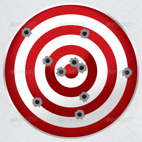 GraphicRiver Shooting Range Gun Target with Bullet Holes 6070490