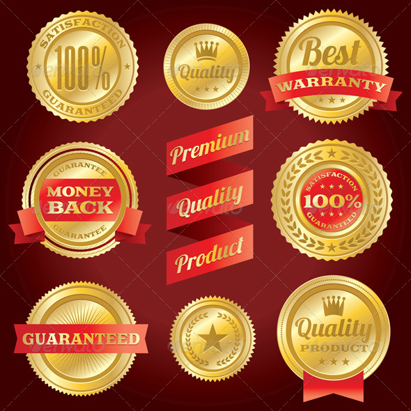 GraphicRiver Vector Satisfaction Guarantee and Warranty Labels 6070498