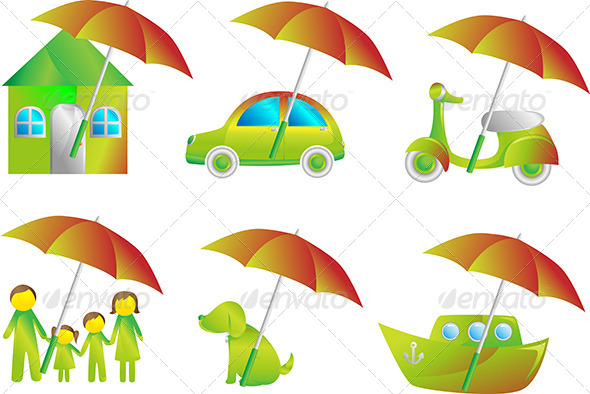 GraphicRiver Insurance Icons 6070503