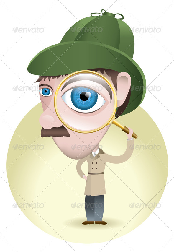 GraphicRiver Detective Looking for Clues 6070516