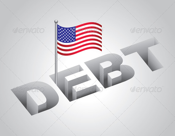 GraphicRiver United States National Debt Concept 6070550